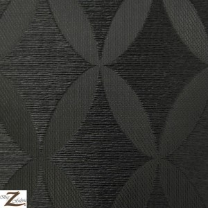 Ellipses Faux Fake Leather Pleather Embossed Vinyl Fabric