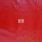 Alligator Embossed Vinyl Faux Leather Pleather Fabric Fire Red
