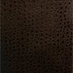 Vinyl Faux Fake Leather Pleather Bubble Ostrich Animal Fabric Brown
