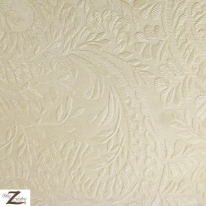 Floral Garden Vinyl Faux Fake Leather Pleather Embossed Fabric