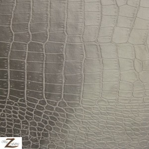 Mini Croc Vinyl Faux Fake Leather Pleather Embossed Fabric