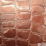 Glossy Crocodile Vinyl Faux Fake Leather Pleather Embossed Fabric Bole