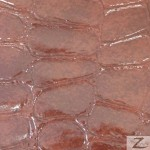 Glossy Crocodile Vinyl Faux Fake Leather Pleather Embossed Fabric Cinnamon