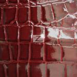 Shiny Alligator Vinyl Faux Fake Leather Pleather Embossed Fabric Burgundy