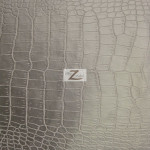 Mini Croc Vinyl Faux Fake Leather Pleather Embossed Fabric Silver