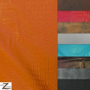 Alligator Embossed Vinyl Fabric