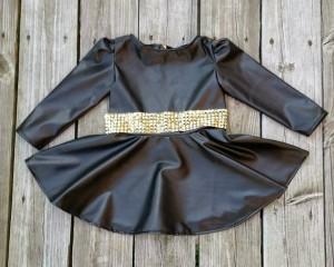 Beautiful Black Vinyl Dress