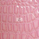 Shiny Alligator Vinyl Fabric Pink