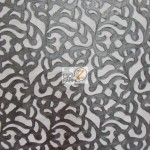 Trendy Paisley Mesh Vinyl Fabric Black