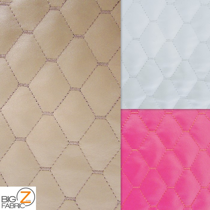 Vinyl Quilted Fabric Foam Upholstery Backing | Faux Fake ...