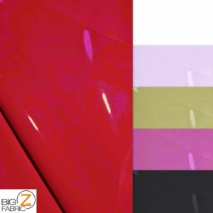 Solid Heavy Glossy Faux Fake Leather Vinyl Fabric