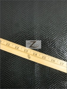 Cobra Snake Skin Vinyl Fabric Black