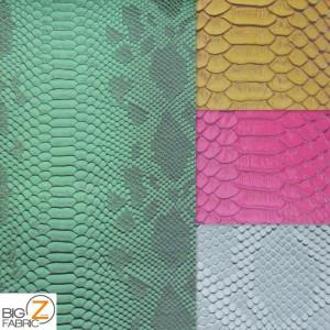 Sopythana Embossed Snake Skin Vinyl Fabric