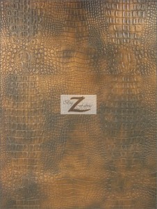 Alligator Embossed Vinyl Fabric Copper Mix