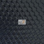 Lattice Upholstery Pleather Vinyl Fabric Black