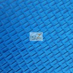 Lattice Upholstery Pleather Vinyl Fabric Blue