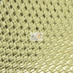 Lattice Upholstery Pleather Vinyl Fabric Gold