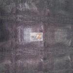 Metallic Crocodile Embossed Vinyl Fabric Black