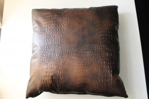 Alligator Vinyl Home Decorative Pillow