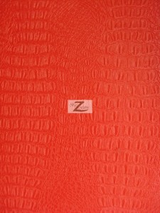 Red Alligator Embossed Vinyl Fabric