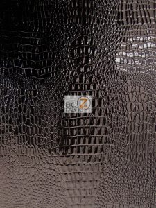 Amazon Crocodile Vinyl Fabric Black