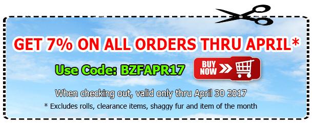 Big Z Fabric Vinyl April Coupon