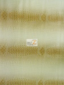 Florida Gator 3D Embossed Vinyl Fabric Western Cream