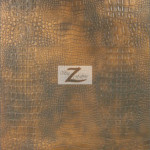 Alligator Embossed Vinyl Faux Leather Pleather Fabric Copper