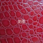 Shiny Alligator Vinyl Faux Fake Leather Pleather Embossed Fabric Rose