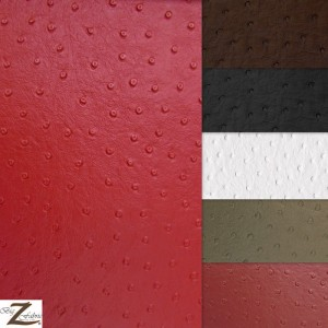 Ostrich Vinyl Faux Fake Leather Pleather Embossed Fabric