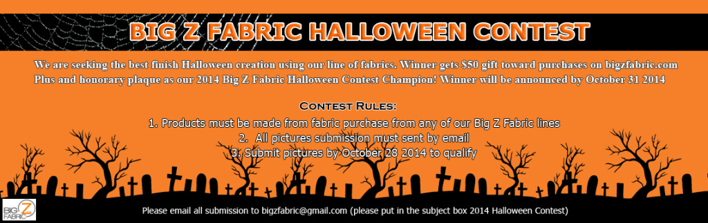 2014 Big Z Fabric Halloween Contest