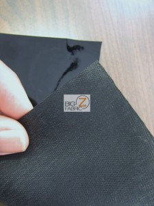 Solid Heavy Glossy Faux Fake Leather Vinyl Fabric Backing