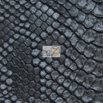 Sopythana Embossed Snake Skin Vinyl Fabric Death Black