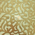 Trendy Paisley Mesh Vinyl Fabric Gold
