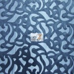 Trendy Paisley Mesh Vinyl Fabric Navy Blue