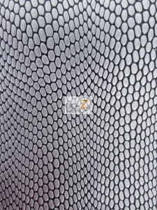 Cobra Snake Skin Vinyl Fabric Gray/Black