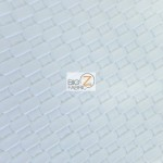 Lattice Upholstery Pleather Vinyl Fabric White