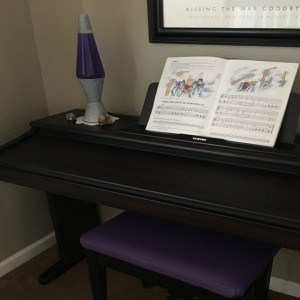 Purple Champion Vinyl Piano Bench