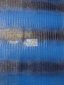 Big Nile Crocodile Vinyl Fabric Aquamarine Blue